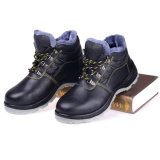 Zapatos de seguridad de acero grabados de la punta del cuero de la vaca para trabajar