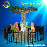 Carosello di natale dei 6 delle sedi giochi del parco di divertimenti mini della decorazione esterna del carosello da vendere