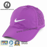 Gran diseño bordado de microfibra poliéster Deporte golf gorra de béisbol