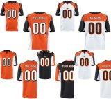 Цинциннати Elite игра белого цвета черный оранжевый цвет команды Football футболках NIKEID