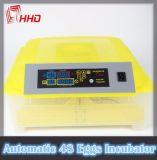 Ce automatique d'incubateur d'oeufs de poulet de taux élevé de hachure d'oeufs de Hhd 48 reconnu