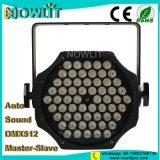 60PCS RGBW LEDの同価の洗浄ライト