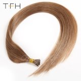 1g/Strand Marron #8 stick Hair Extensions 20inch JE-Tip hair extension brésilien de cheveux raides