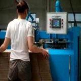 Carton ondulé semi-automatique se pliant collant la machine