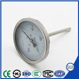 Termometro bimetallico del collegamento inferiore con Ce