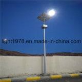 Rue lumière d'alimentation solaire avec panneau solaire au Liban