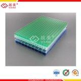 Hoja de policarbonato hueco de materiales de construcción