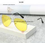 Versuchsglas-Fahrer-Nacht der luftfahrt-Nachtsicht-Sonnenbrille-Mann-Frauen-Schutzbrille-Glas-UV400 Sun, die Eyewear fährt