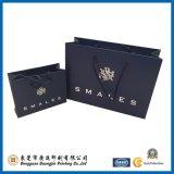 Saco de papel Matte preto luxuoso para empacotar (GJ-bag120)