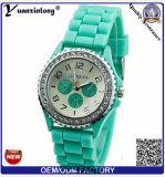 Yxl-899 여름 형식 사탕 색깔 석영 시계 실리콘 시계 여자 제네바 시계 평상복 손목 시계