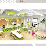 HDF matériau coloré de haute qualité pour les enfants et les armoires Chiars Tables pour le début de l'utilisation du centre de l'éducation