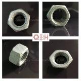 Écrous hexagonaux de creuser l'acier galvanisé à chaud (DIN934, H. D. G., cl. 6/8/10)