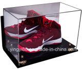 Изготовленный на заказ акриловая большая коробка индикации ботинка для ботинок баскетбола, зажимов футбола с UV предохранением