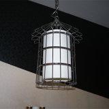De moderne Lamp van de Tegenhanger van de Kooi van het Staal van Satinless van het Restaurant van het Hotel