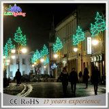 Luz de poste festiva de la Navidad de la decoración solar de la calle del LED