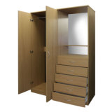 Spanplatte MDF-Furnierholz-Garderobe mit 5-Drawer