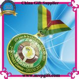 Medalha de troféu de metal com gravura de logotipo 3D (m-mm05)