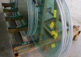 構築のための磨かれた端が付いている曲げられた緩和されたガラス