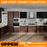 Meubles en bois de cuisine des graines de PVC de projet de qualité d'Oppein (OP14-PVC01)