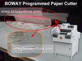 Massicot de coupeur de machine de découpage de papier de contrôle de programmes 9X8 de Boway A3 A4 520mm
