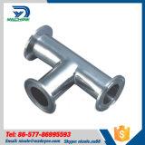 Het hygiënische Gelijke T-stuk van de Metalen kap van het Roestvrij staal