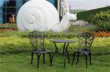 Cast Aliminum mesa e cadeira Mobiliário de exterior