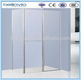 Banho de chuveiro em vidro transparente de 6 mm /Fumo/, 6995Vidro Tecido Square chuveiro portas do Pivô da Caixa, Duche de articulação
