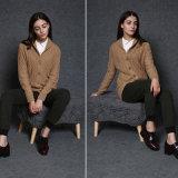 Luvas longas da camisola do casaco de lã das mulheres, venda por atacado