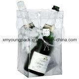 De promotie Draagbare Plastic Koelere Zak van de Wijn van de Carrier van de Wijn van pvc
