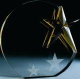 Премия Crystal ремесла с лазерным золотой звезды логотип