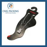 Cartão plástico do indicador do Anklet do PVC do preto plástico (CMG-042)