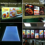 Aluminum FrameのMenu Board Madeの細いLED Fast Food Box