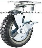 頑丈な高品質の極度の旋回装置透過PUの足車