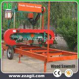 木工業の販売のための移動式Hydrculicの帯鋸の製材所