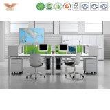 オフィス用家具の現代4人のスペース節約の家具の開いたオフィスワークステーション
