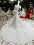 Атласная белая плакатная бумага Aolanes Aoliweiya вышитого тюля с квадратной шейкой свадебные платья110509
