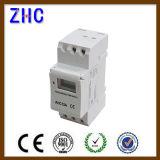 Visor LCD digital Ahc trilho DIN15A 250V Temporizador inteligente