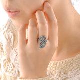 도매 보석 주문 종류 모조 다이아몬드 은 반지