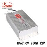 Smun Smv-250-12 250W 12V 20A impermeabilizza l'alimentazione elettrica del driver del LED
