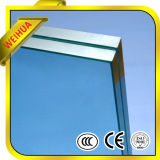 12mm de vidro laminado temperado para o corrimão da escada/Porta do banheiro de vidro com marcação CE / ISO9001 / CCC