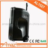 Bluetooth機能の熱い販売の良質のトロリースピーカーおよびカラオケ/Outdoorのための無線Mic 15インチ