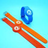fascia di manopola classica del braccialetto di forma fisica RFID NFC di ginnastica 1K di 13.56MHz MIFARE