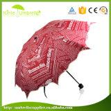 Guarda-chuva vermelho bonito do casamento de China da impressão