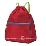 sacs multifonctionnels de Backpcak de cordon de polyester de sac à main d'école de sac de cordon de blanc de la course 30-40L
