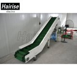 Hairise sistema transportador inclinado de buena calidad material de SS304