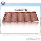 En acier ondulé Pierre Romaine Plat recouvert de tuiles du toit de métal