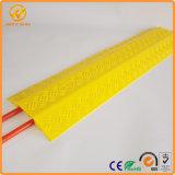 Protecteur en plastique portatif de câble de la Manche du jaune 2 d'Indoor&Outdoor