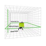 5 lignes Lignes Vertes étudiant le niveau rotatoire de laser