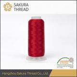 Oeko-Texの高い粘着性100%の120d/2レーヨンかViscoseの刺繍の糸