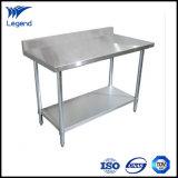 Edelstahl-faltbarer Arbeits-Tisch der Zoll-30*72 mit rückseitigem Spritzen
